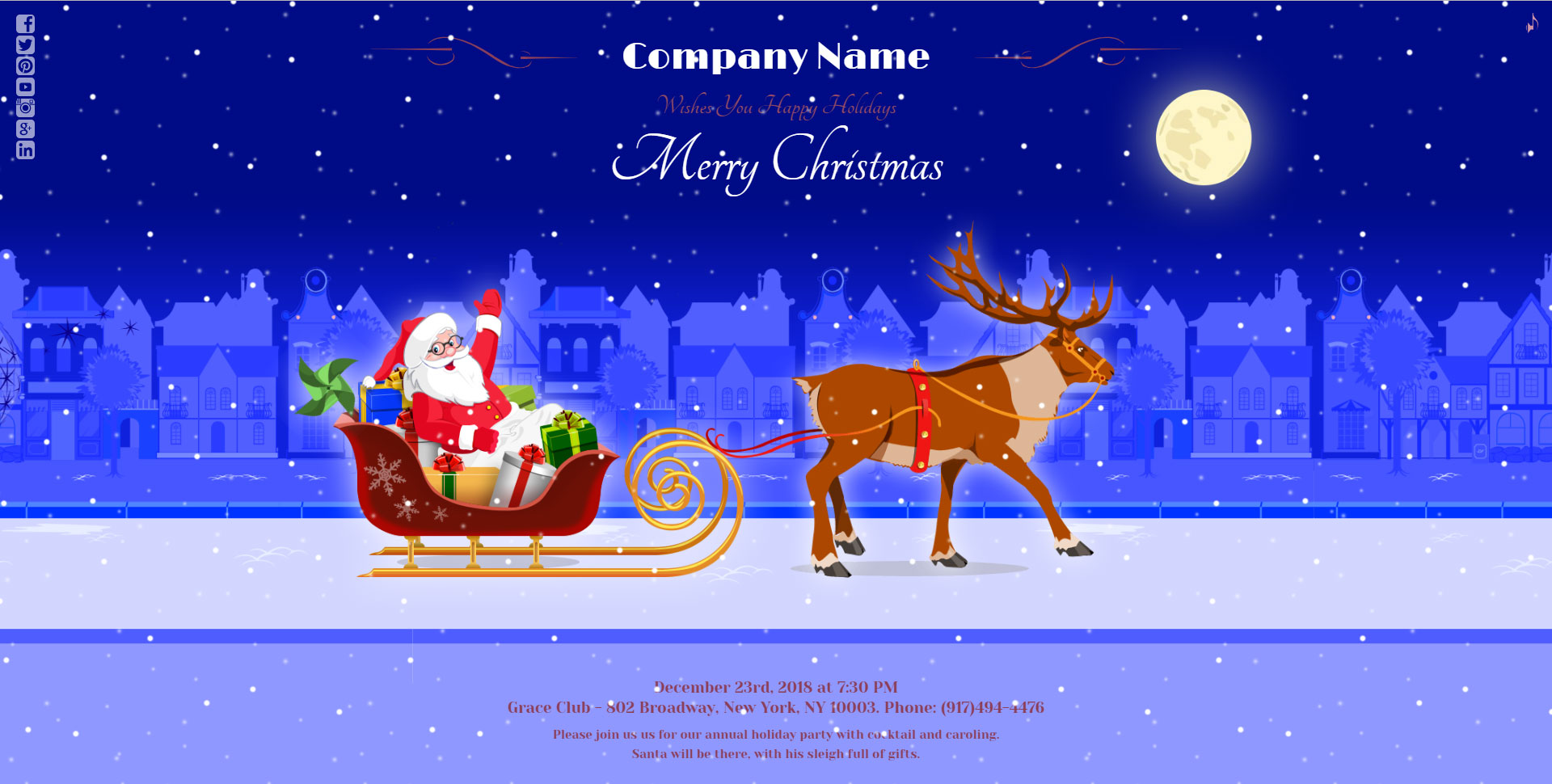 Magic Christmas Card With Animation - WordPress Plugin by LambertGroup