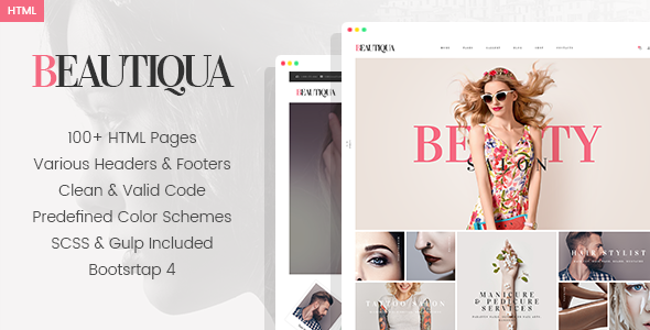 Beautiqua - Beauty Salon HTML Template