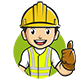 Constructor Cartoon Mascot - GraphicRiver Item for Sale