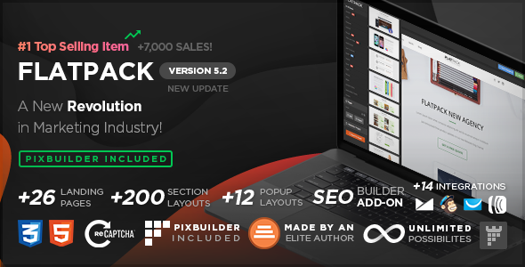 FLATPACK – Landing Pages Pack With Page Builder - Miscellaneous Landing Pages