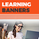 Learning Web Banners - GraphicRiver Item for Sale