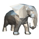 elephant figure low poly 2 - 3DOcean Item for Sale