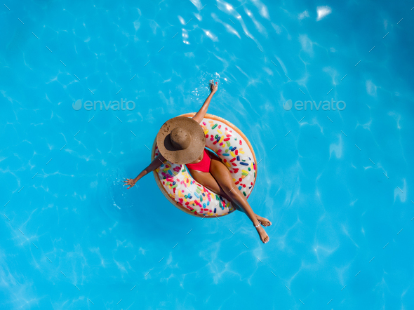 Relaxing In The Pool - Stock Photo - Images