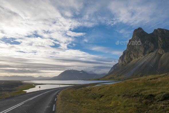 Amazing landscape of the East Fjords in Iceland - Stock Photo - Images