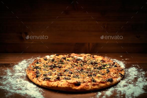 Italian delicious pizza - Stock Photo - Images