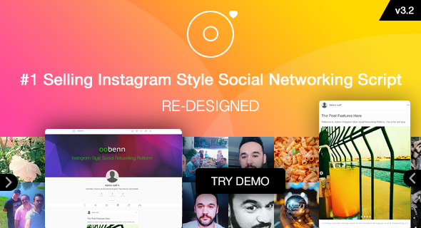 oobenn Instagram Style Social Networking Script || Re- Designed - CodeCanyon Item for Sale