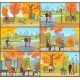 Cafe and Customers Autumn Park People Set Vector - GraphicRiver Item for Sale