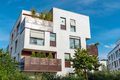 Modern white apartment house with metal balconies  - PhotoDune Item for Sale