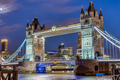 The illuminated Tower Bridge at night - PhotoDune Item for Sale