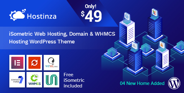 Hostinza - Isometric Domain & Whmcs Web Hosting WordPress Theme - Hosting Technology