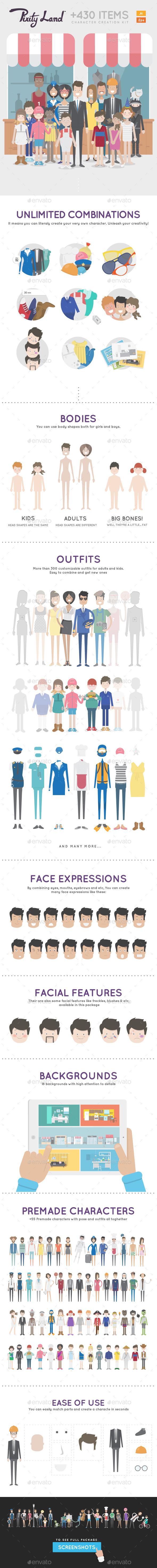 Pixity Character Creator Kit