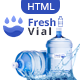 Fresh Vial - Drinking Mineral Water Delivery Bootstrap4 HTML Template - ThemeForest Item for Sale