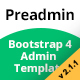 Preadmin - Bootstrap Admin Template 3.3.7 & 4.1.1 - ThemeForest Item for Sale