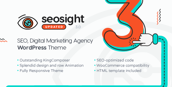 Seosight - SEO, Digital Marketing Agency WP Theme with Shop - Marketing Corporate