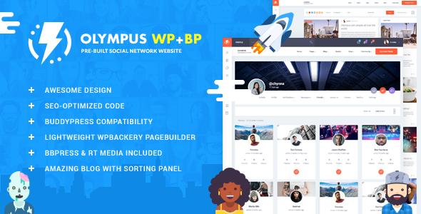 Olympus - Responsive Community & Social Network WordPress Theme - BuddyPress WordPress