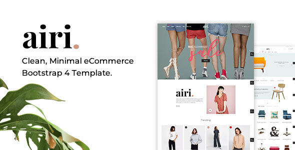 Airi - Clean, Minimal eCommerce Bootstrap 4 Template - Shopping Retail