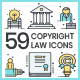 Copyright Law Icons - GraphicRiver Item for Sale