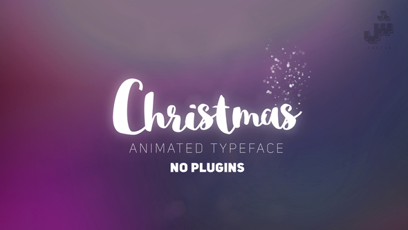 Christmas- Animated Typeface - Project for After Effects (Videohive) - Free download