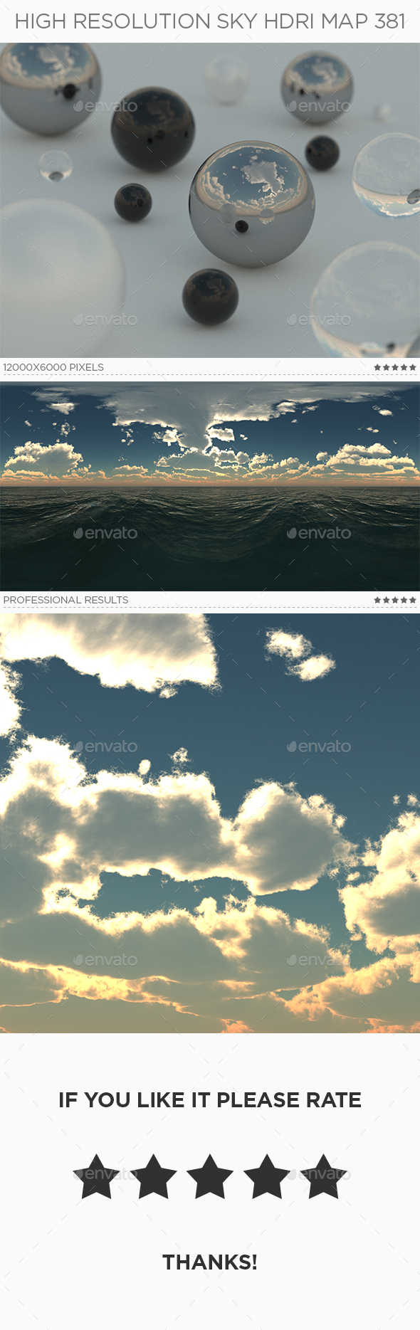 High Resolution Sky HDRi Map 381 - 3DOcean Item for Sale