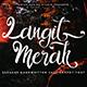 Free Download Langit Merah - Handwritten Font Nulled