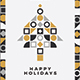 Minimal Geometric Christmas Card - GraphicRiver Item for Sale