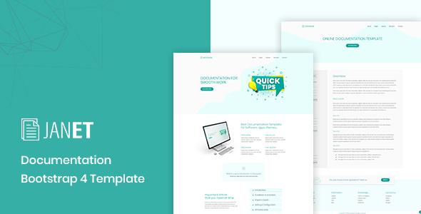 Janet – Online Documentation, Knowledge Base, Help Desk Template - Software Technology