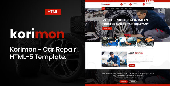 Korimon - Car Repair Responsive HTML-5 Template