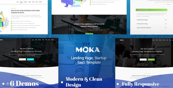 Marvelous Moka - Landing Page, Startup HTML Template