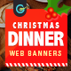 Christmas Dinner Web Banner Set - GraphicRiver Item for Sale