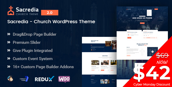 Sacredia - Church and Non-profit WordPress Theme