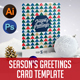 Season's Greetings Card Template - GraphicRiver Item for Sale