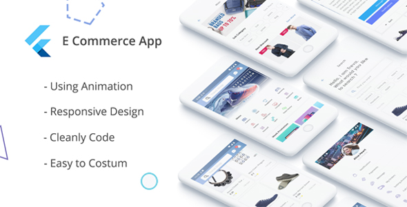 E-Commerce UI KIT using Flutter - CodeCanyon Item for Sale
