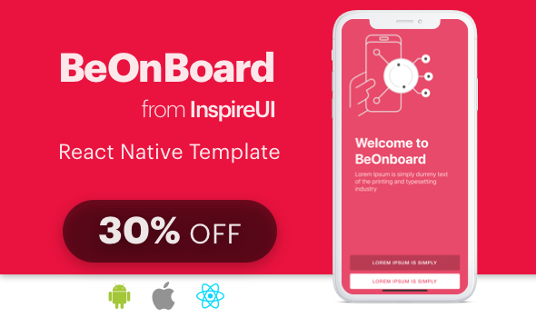 BeOnboard - complete onboarding template for React Native app - CodeCanyon Item for Sale