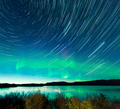 Startrails Northern Lights display Lake Laberge - PhotoDune Item for Sale