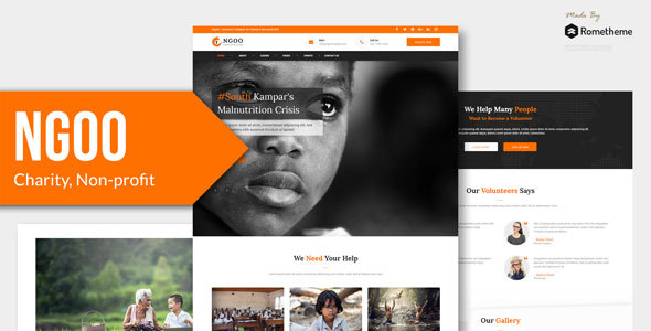 NGOO - Charity, Non-profit, and Fundraising PSD Template