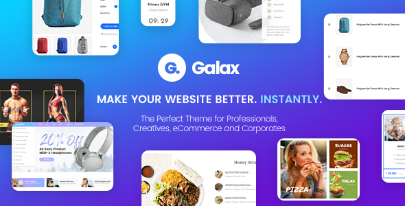 Galax - Creative eCommerce Multi-Purpose WordPress Theme - Corporate WordPress