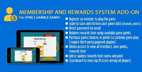 Membership and Rewards System Add-On - CodeCanyon Item for Sale