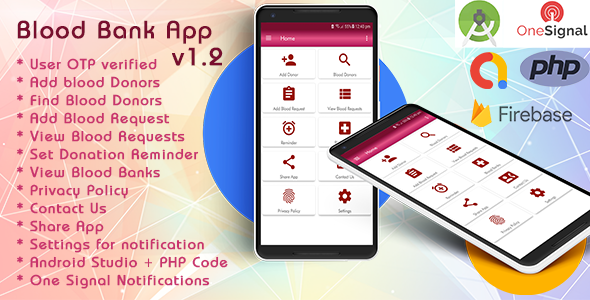 Blood Bank App With Material Design v1.2 - CodeCanyon Item for Sale