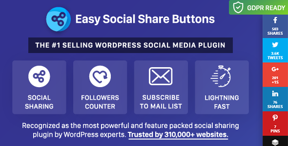 Easy Social Share Buttons for WordPress Nulled