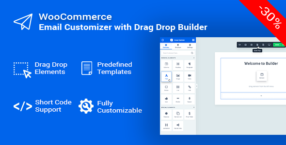 Email Customizer for WooCommerce with Drag Drop Builder - Woo Email Editor - CodeCanyon Item for Sale