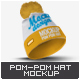 Pom Pom Hat Mock-Up - GraphicRiver Item for Sale