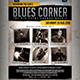 Blues Corner Flyer / Poster - GraphicRiver Item for Sale
