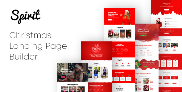 Spirit - Christmas Landing Pages with Page Builder