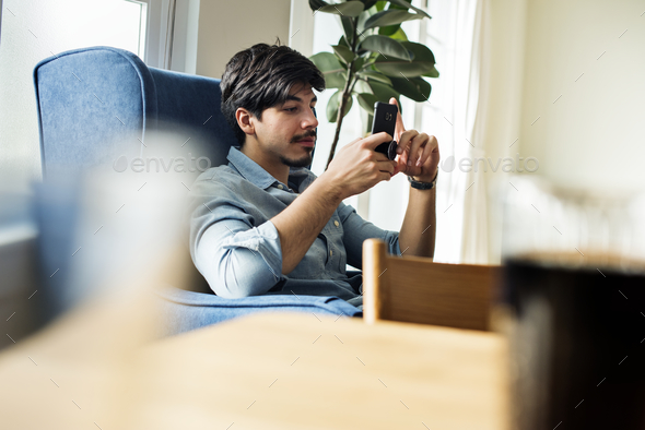 People using mobile phone - Stock Photo - Images