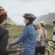 Group of cyclists enjoying the view - PhotoDune Item for Sale