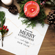 Christmas holiday greeting design mockup - PhotoDune Item for Sale
