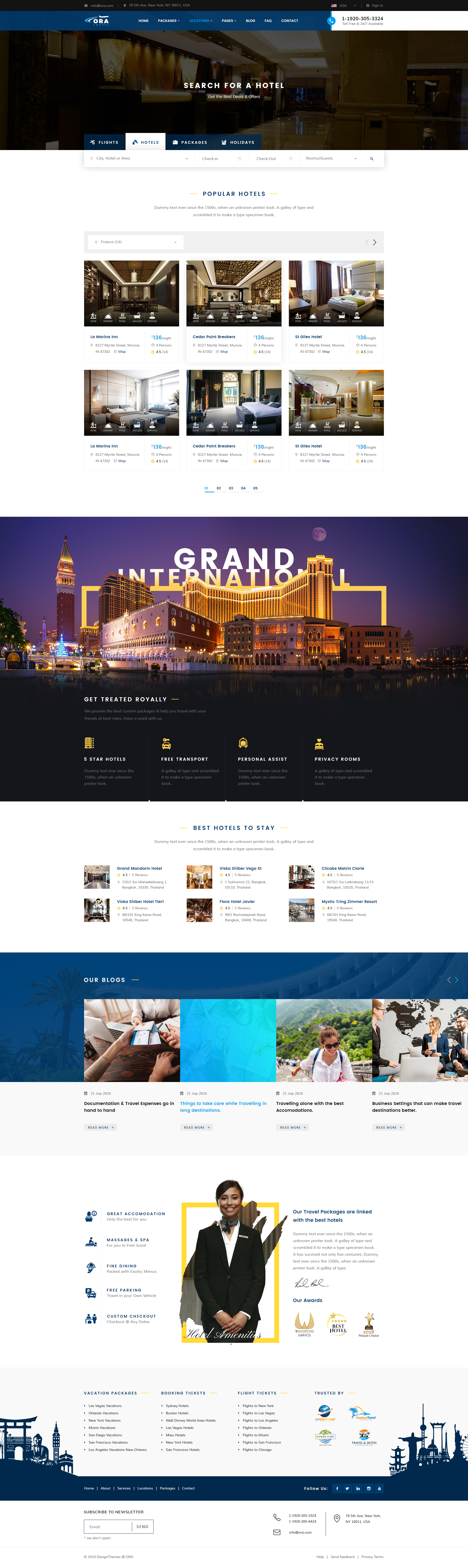 Ora | Travel & Hotel Booking PSD