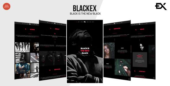 Blackex - Photography Portfolio Template