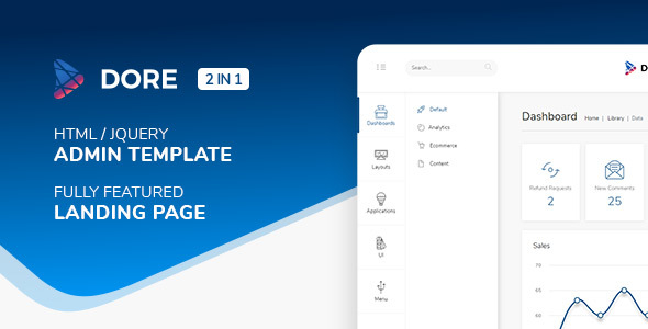 Dore - Html jQuery Admin Template & Landing Page