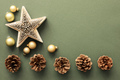 Christmas decoration background with pine cones and a star - PhotoDune Item for Sale